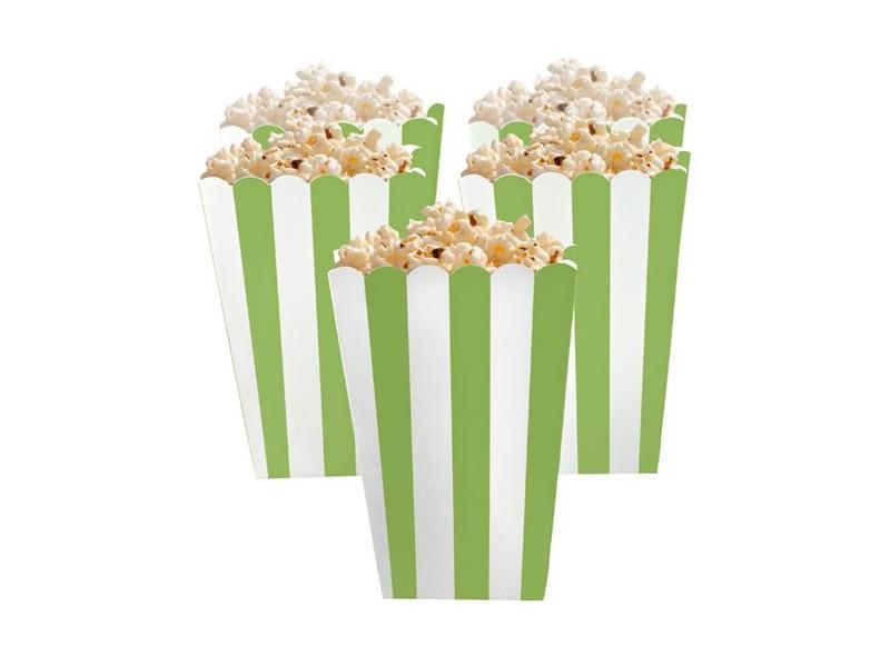 BOX POP CORN RIGHE VERDE5PZ CM 6,3,13,4X3,8