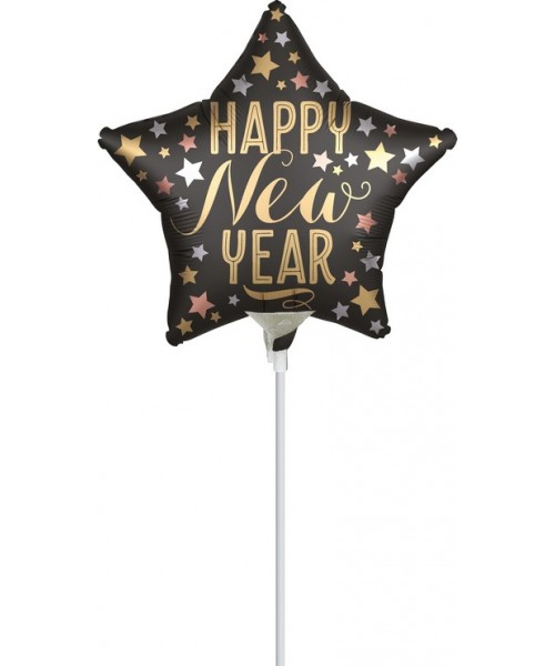 "MINISHAPE 9"" STELLA SATIN HAPPY NEW YEAR"