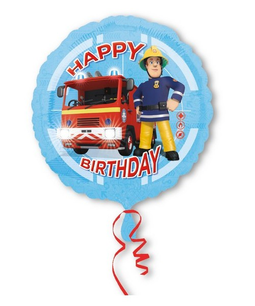 "PALLONE ""18""""/45CM FIREMAN SAM HAPPY BDAY"