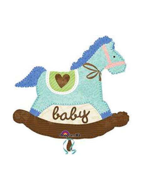 PALLONE MYLAR HORSE BABY 66X74