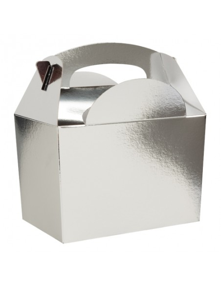BOX PARTY FOOD PZ. 10 SILVER LUCIDO