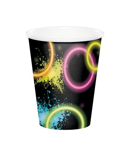 BICCHIERE GLOW PARTY FLUO 8PZ