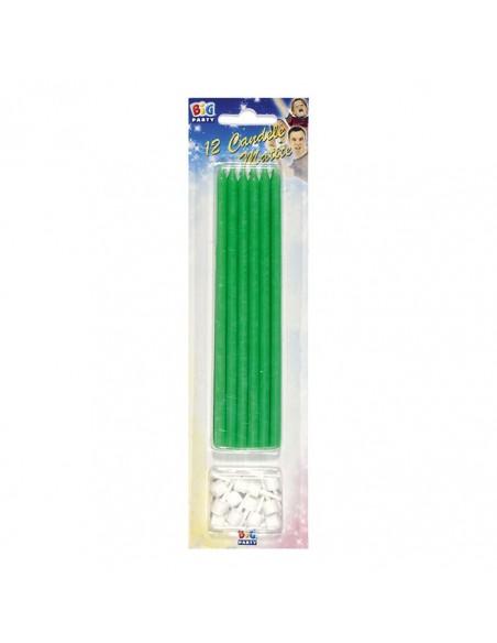 Cand.matite+supp. verde fluo. 12pz