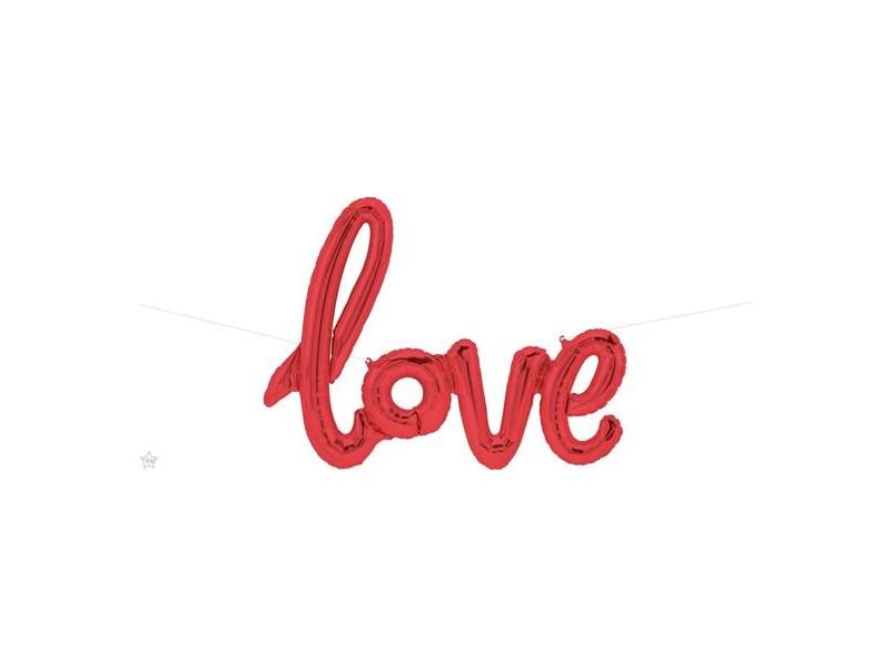 PALLONE SCRITTA LOVE ROSSO DIM. 102CM