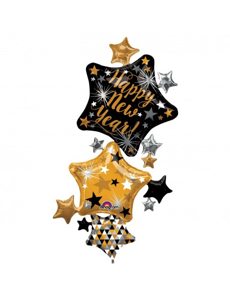 PALLONE MYLAR MULTI SHAPE HAPPY NEW YEAR CM. 93X170