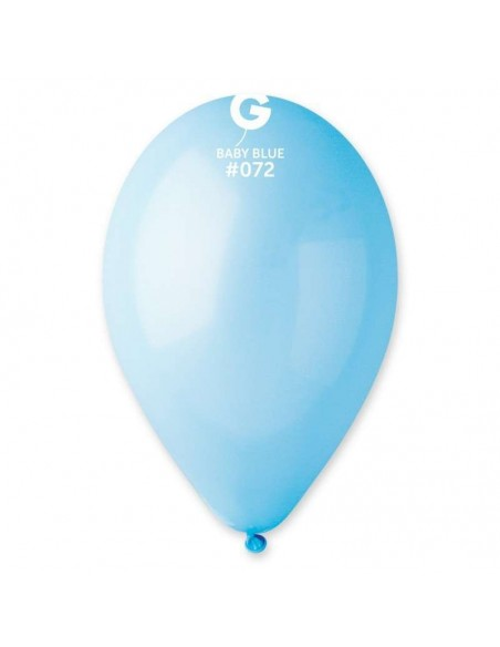 "PALLONI LATTICE 12"" PZ.100 PAST.BABY BLUE"