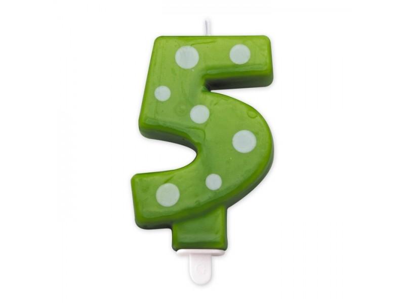 Cand. Numero 5 Pois Verde Mela