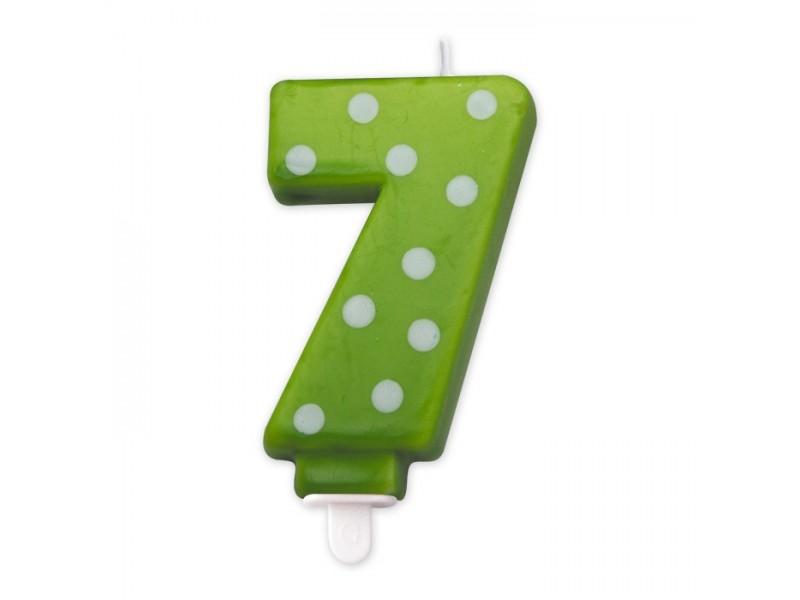 Cand. Numero 7 Pois Verde Mela