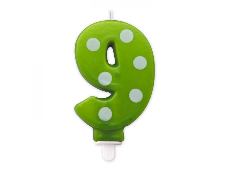 Cand. Numero 9 Pois Verde Mela