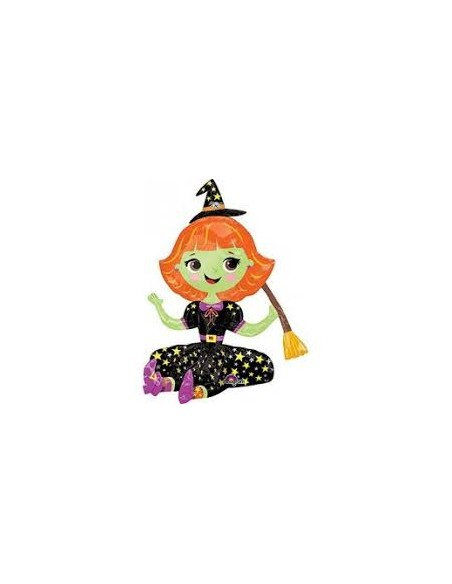 S/SHAPE SITTING WITCH 40X53CM GONFIAGGIO AD ARIA