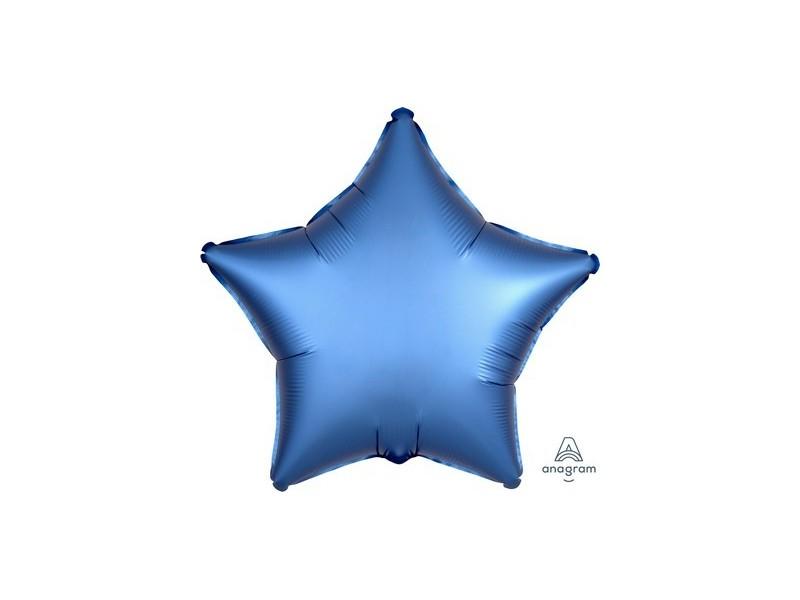 "PALL. MYLAR STAR 18"" SATIN LUXE AZUR"