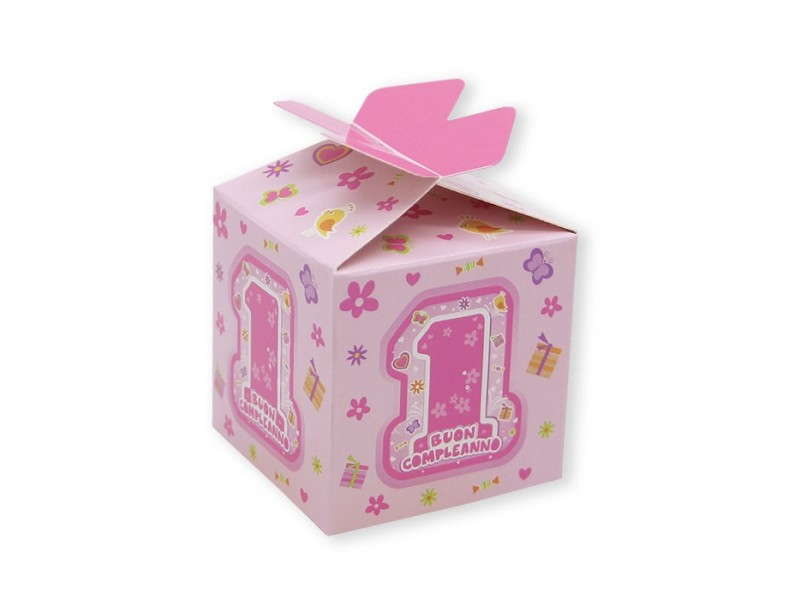 25 SCAT. CUBETTO FIOCCO ONE PINK