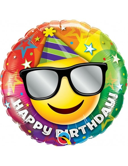 "PALLONE MYLAR 18"" HAPPY BIRTHDAY SMILE CM.45"