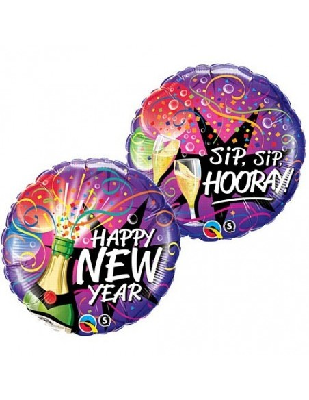 PALLONE MYLAR 18''NEW YEAR CM. 45