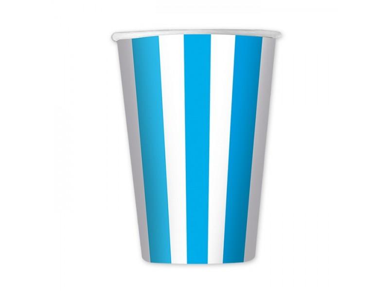 6 Bicchieri cc.470 Stripes Turchese