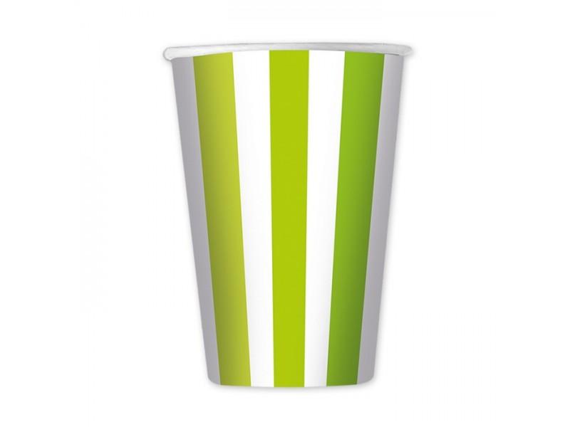 6 Bicchieri cc.470 Stripes Verde Mela