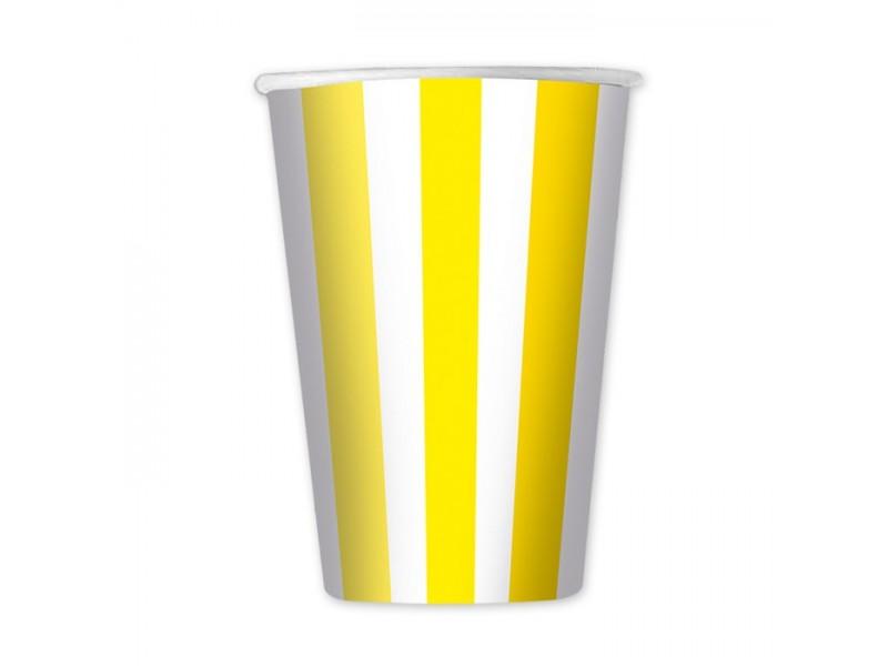 6 Bicchieri cc.470 Stripes Giallo