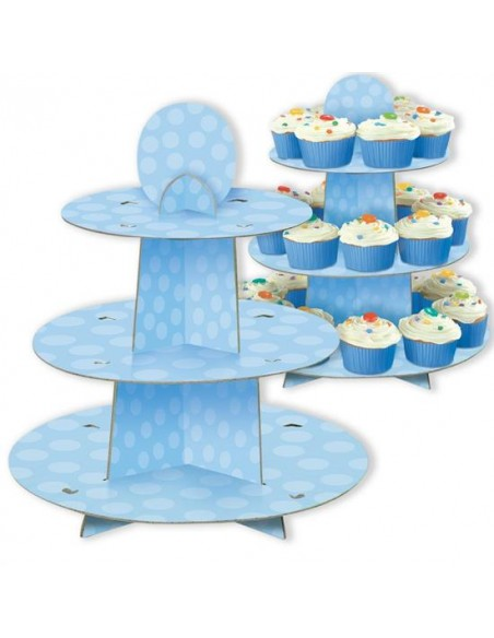 ALZATINA CUP CAKE BLUE 3 PIANI