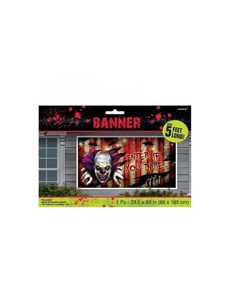 BANNER POSTER HALLOWEEN CLOWN 85X165CM