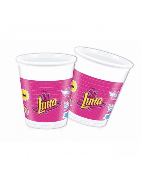 Bicchiere plast busta 8 pz SOY LUNA