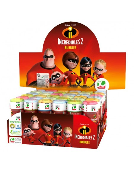 BOLLE DI SAPONE THE INCREDIBLES 2 36PZ
